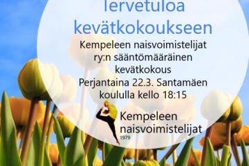 Knv:n sääntömääräinen kevätkokous 22.3.2019