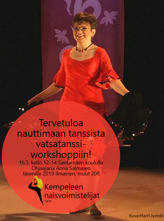 Vatsatanssi workshop la 16.3.2019